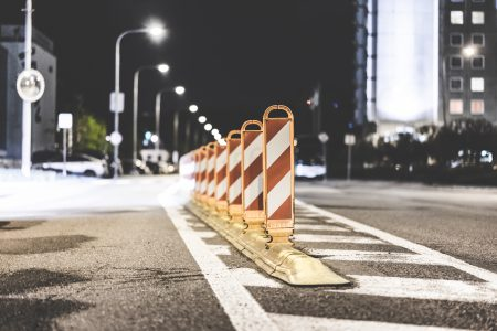 Safety Barriers On The Road Picjumbo Com